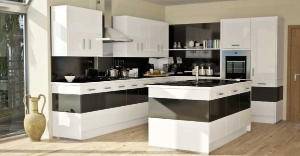 Charmant View In Gallery Bold Kitchen Design In Black And White