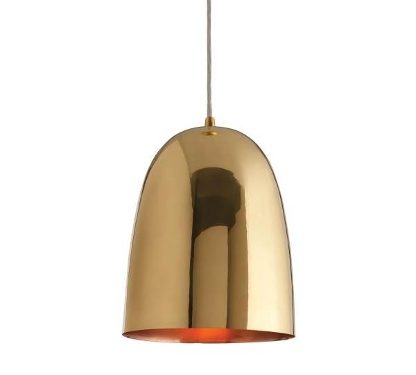 Brass dome pendant light