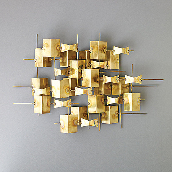Brass wall sculpture