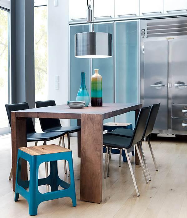 Bright blue stool