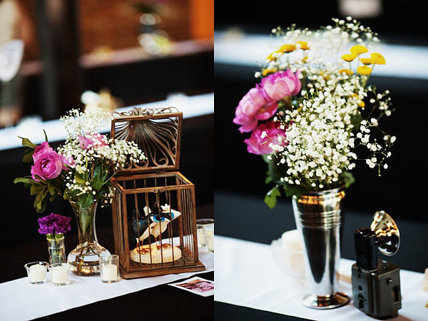 Charming vintage-style wedding details