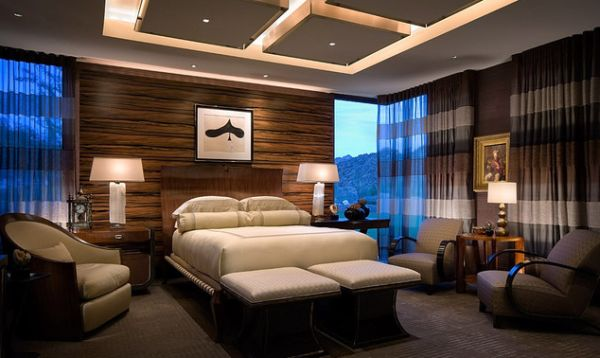 View In Gallery Chic Ceiling Design With Multiple Illuminated Squares For The Lavish Bedroom