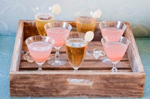 Cocktails on a tray