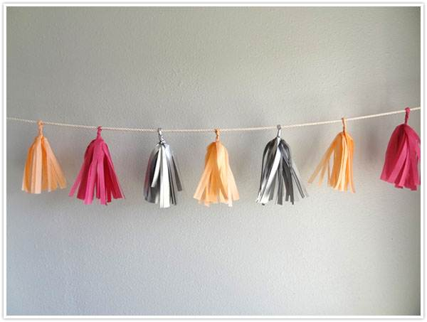 Colorful fringe garland