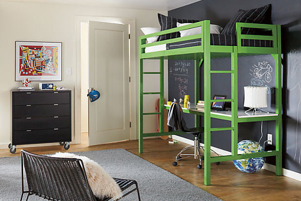 Adult loft beds for modern homes 20 design ideas that for Modern bunk bed with desk