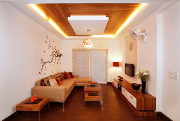 cool contemporary interiors with recessed ceiling lighting that
