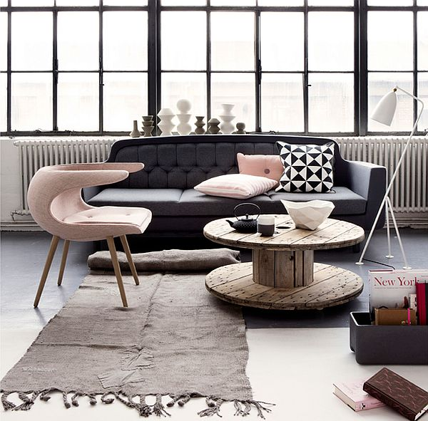 Cozy living room with Frost chairs by Stouby