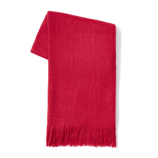 Cozy red throw