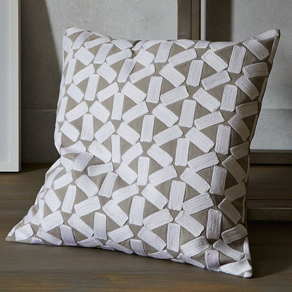 Crewel pillow cover