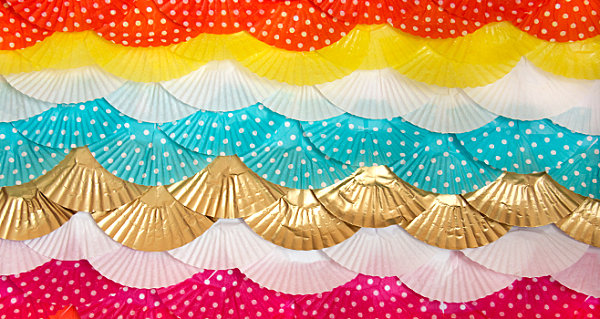 Cupcake liner backdrop