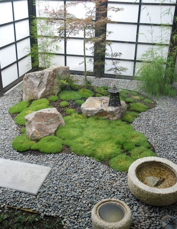 daft and compact japanese garden with shoji screens perfect for the contemporary home - Japanese Garden
