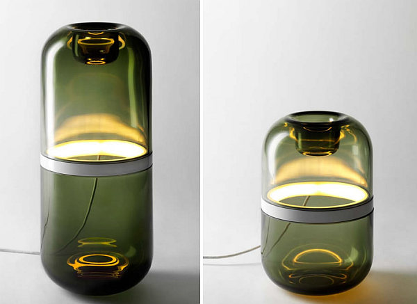 Demi Lamp - hand-blown glass with LED