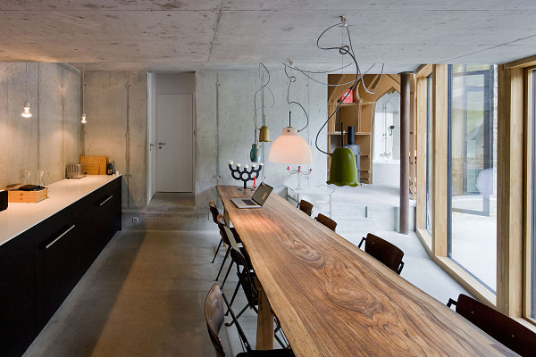 Dining area at Villa Vals underground home