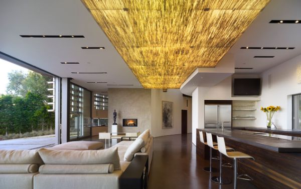 View in gallery Dramatic ceiling design promises this house an inimitable  interior
