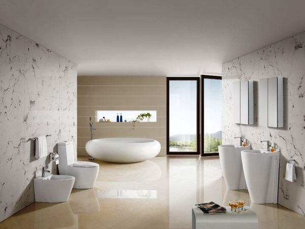 Eclectic bathroom offers refined grace