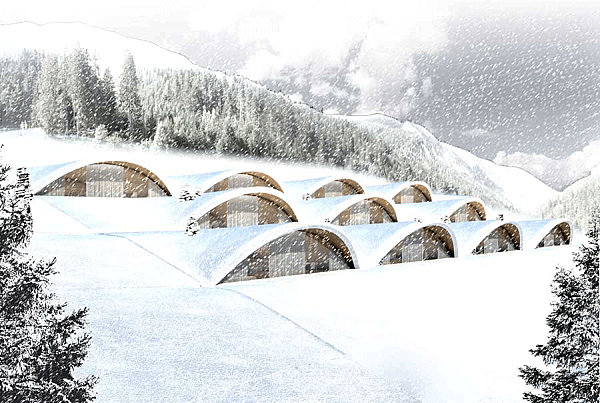 Eco-friendly underground hotel