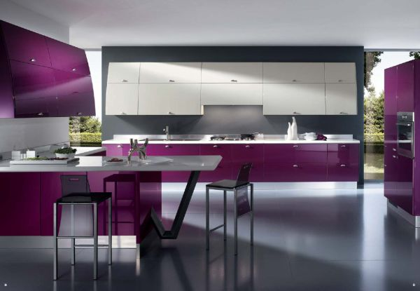 Ergonomic and bright kitchen for the chic home