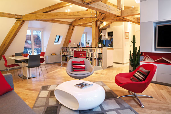Exposed beams in modern residences (1)
