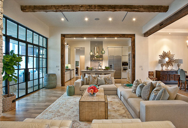 Exposed beams in modern residences (3)