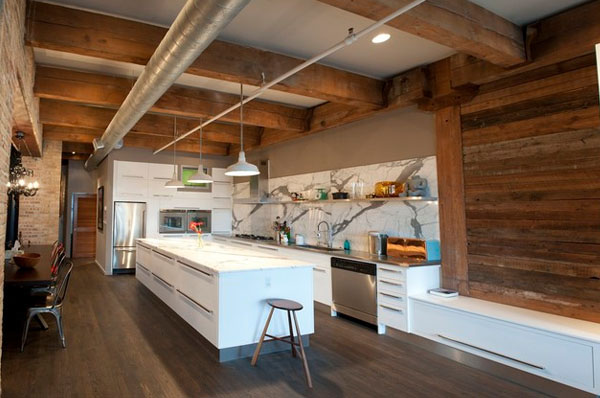Exposed beams in modern residences (4)