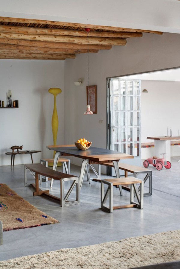 Exposed beams in modern residences (6)