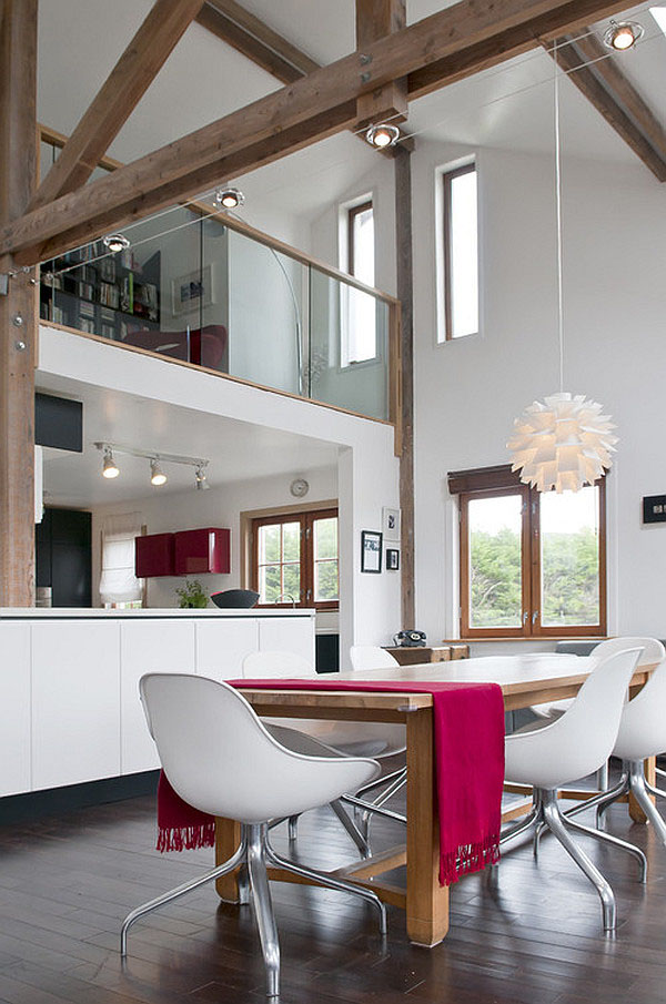 Exposed beams in modern residences (7)