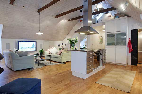 Exposed beams in modern residences (8)