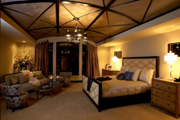 33 stunning ceiling design ideas to spice up your home Master bedroom ceiling lighting ideas