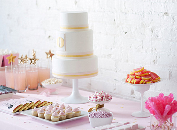 Festive wedding dessert table