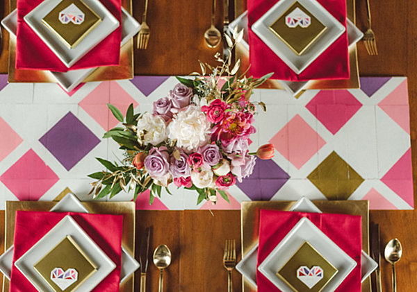 Geometric wedding table