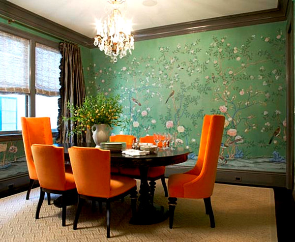 New interior design trends for 2013 for Orange dining room design ideas