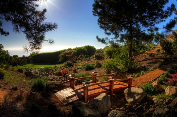 Japanese Garden Bridge adds a unique element to your backyard