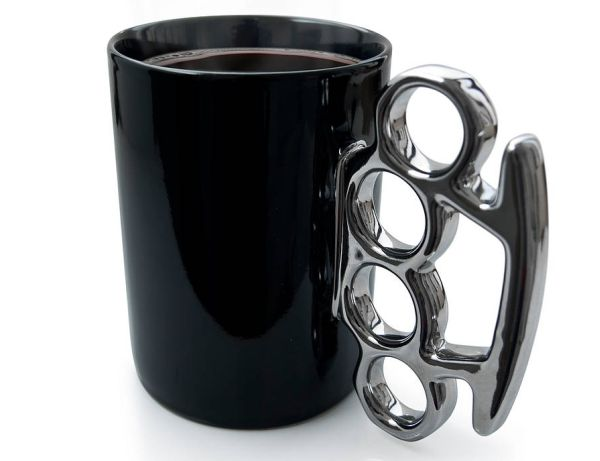knuckle duster mug makes a point - Cup Design Ideas