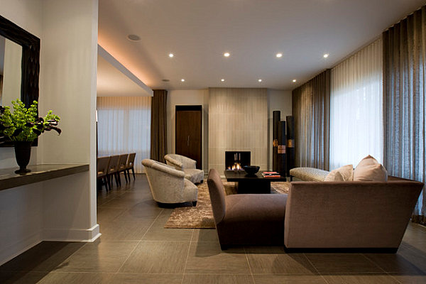 Large porcelain tiles for the living room