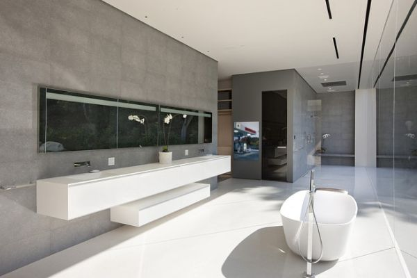 View In Gallery Lavish Bathroom With Modern Minimalism
