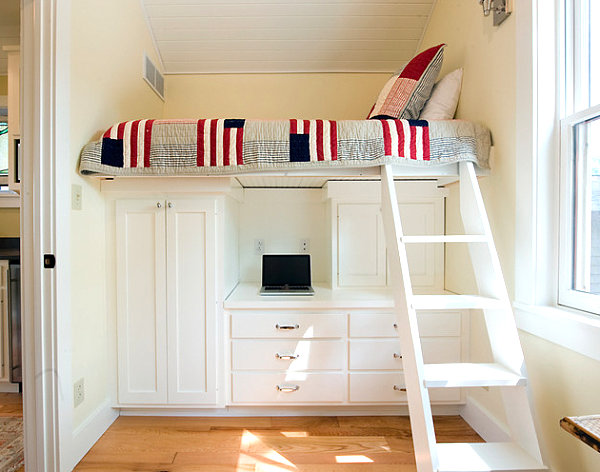 Adult loft beds for modern homes 20 design ideas that - Amenagement petite chambre 9m2 ...