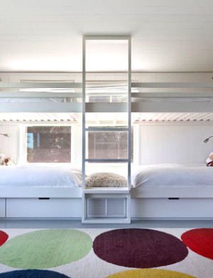 Loft beds are a guest room solution
