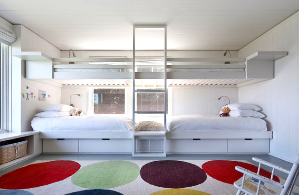 View In Gallery Loft Beds Are A Guest Room Solution