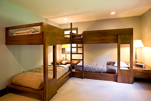 Loft beds for a Lake Michigan retreat