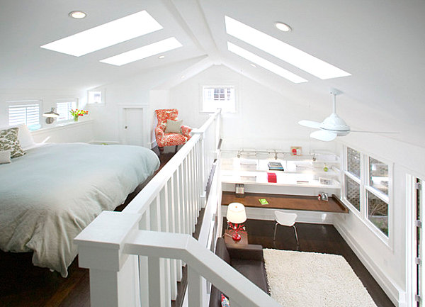Adult loft beds for modern homes 20 design ideas that for How to make a loft room