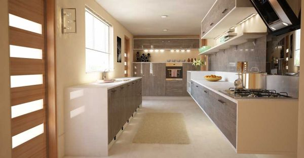 Lovely kitchen in earthly tones