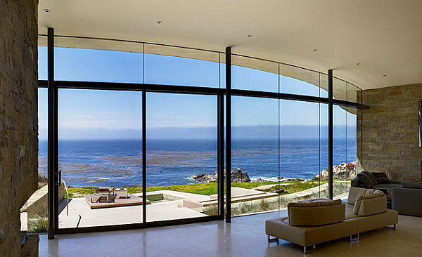 Minimalist design in a room with a view