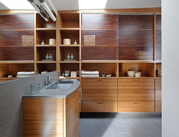Modern floating home bathroom