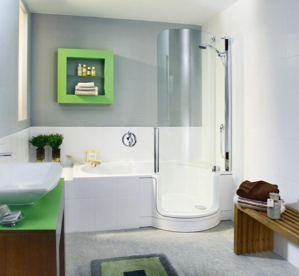 Modern kids bathroom custom crafted for the space