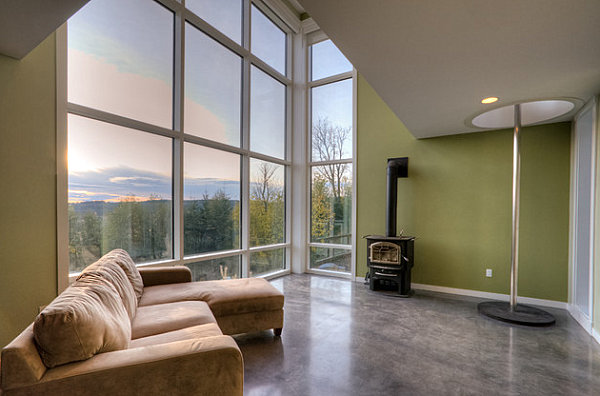 Modern room with a scenic view