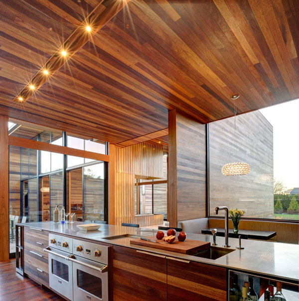 Modern Wood Kitchen delightful modern kitchens wearing a wooden skin