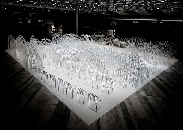 Mountains installation Nendo
