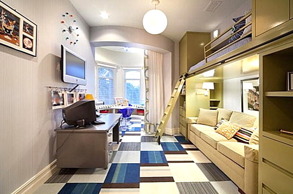 View In Gallery Narrow Loft Bed With Seating Underneath Part 68