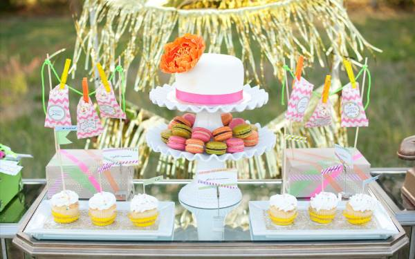 Neon bridal shower