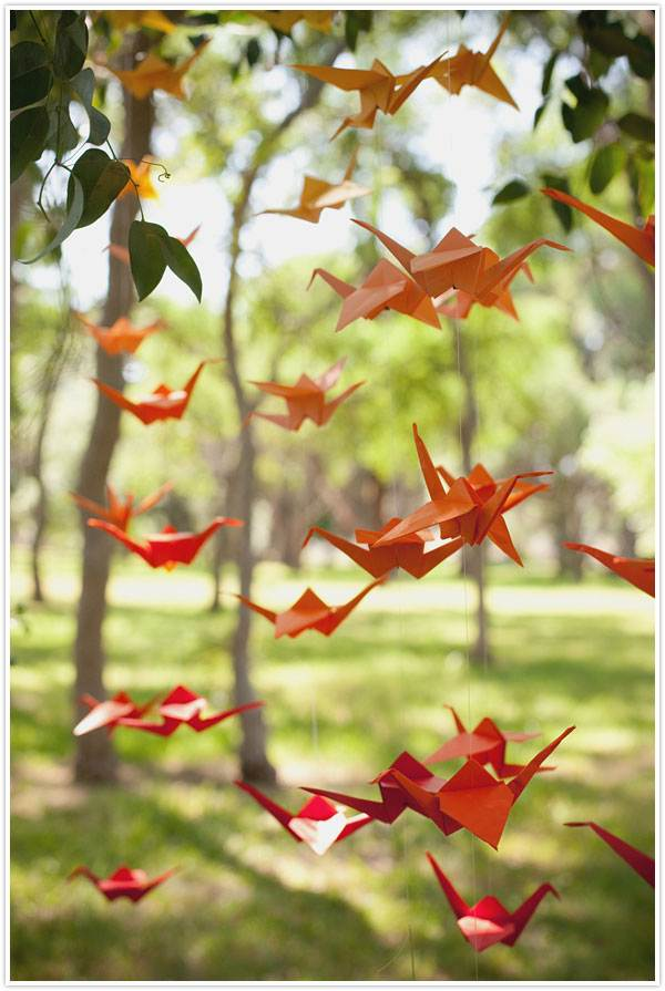 Ombre crane garland DIY project
